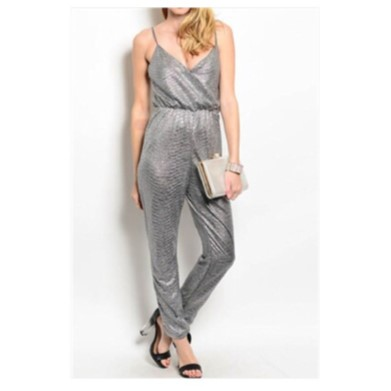 Pull-on styling Spaghetti Strap Jumpsuit