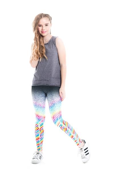 Terez - Girls Dylan's Candy Bar Glitter Pop Leggings