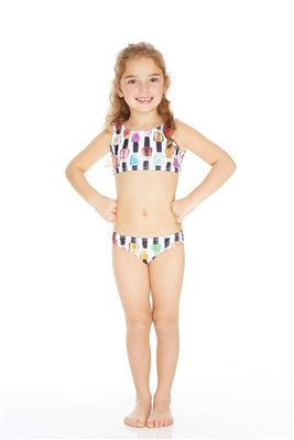 Terez Kids Nail Polish Sports Bra Bikini