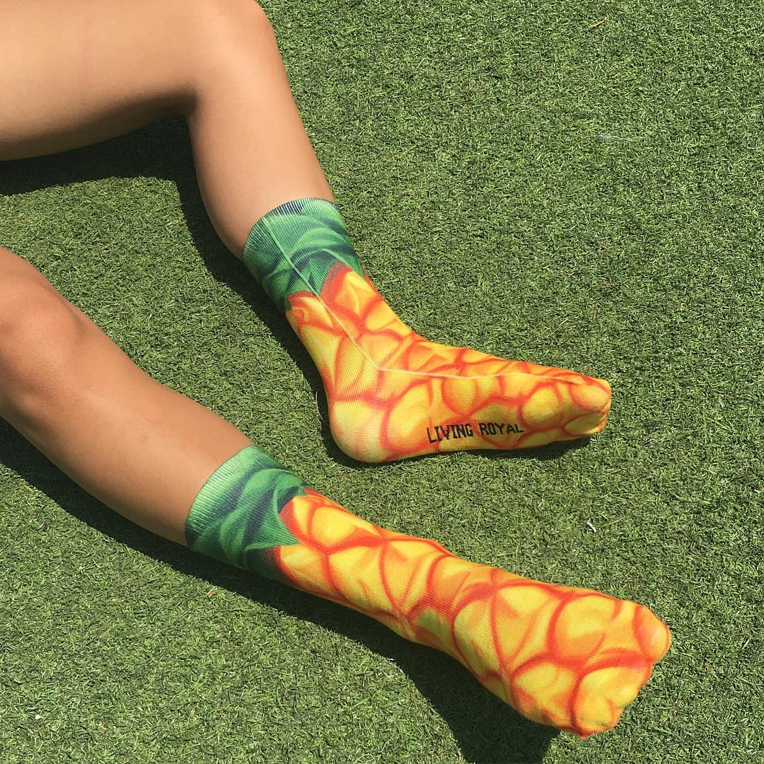 Living Royal - Pineapple Crew Socks
