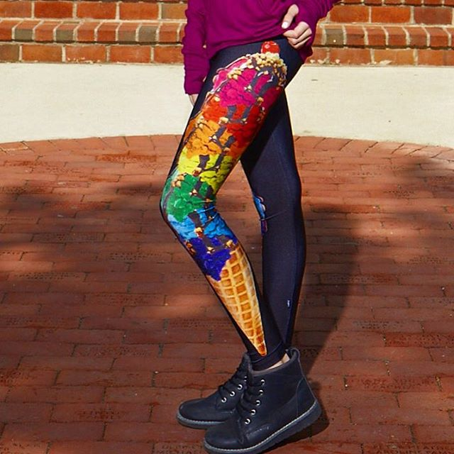 Terez - Girls Rainbow Cone Leggings