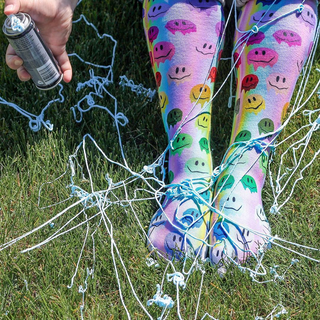 Living Royal Melting Smiley Knee High Socks