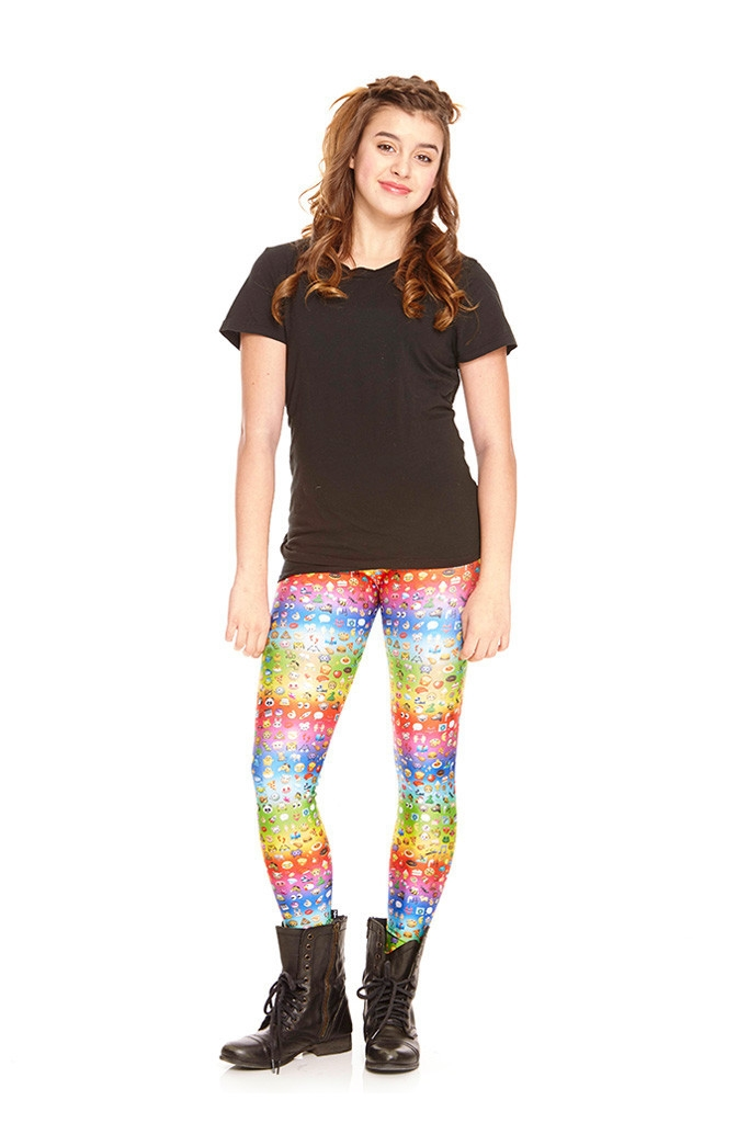 Terez - Girls Emoji Rainbow Leggings