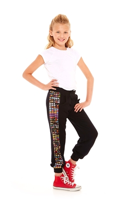 Terez - Girls Emoji Side Panel Sweatpants