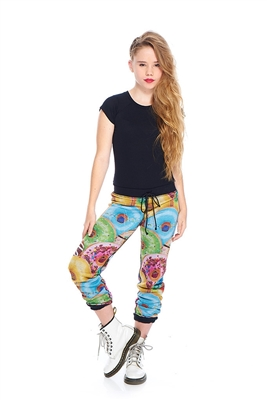 Terez - Girls Stacked Donuts Reversible Sweatpants