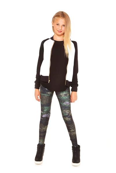 Terez Girls Heathered Camo Leggings